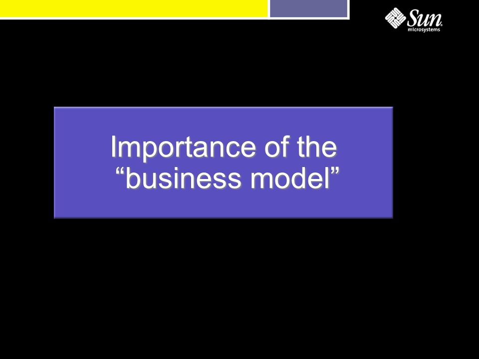 Importance of the business model business model