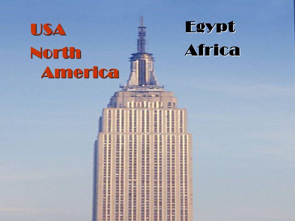 USA North America EgyptAfrica