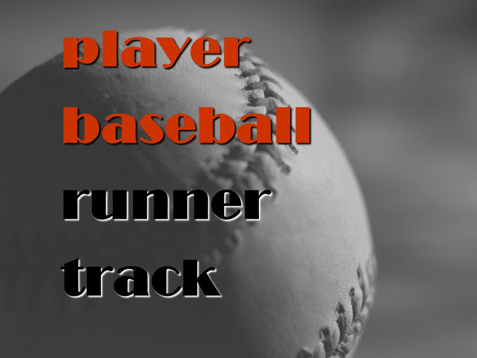 player baseball runner track