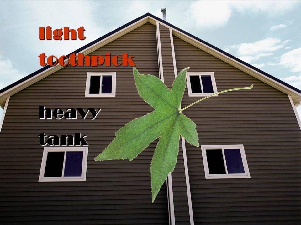 light toothpick heavy tank