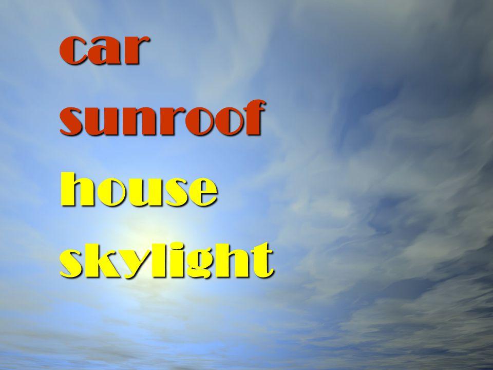 car sunroof house skylight