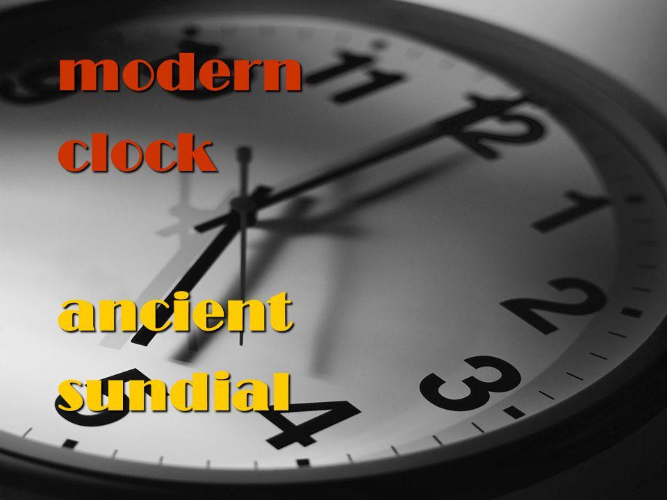 modernclockancientsundial