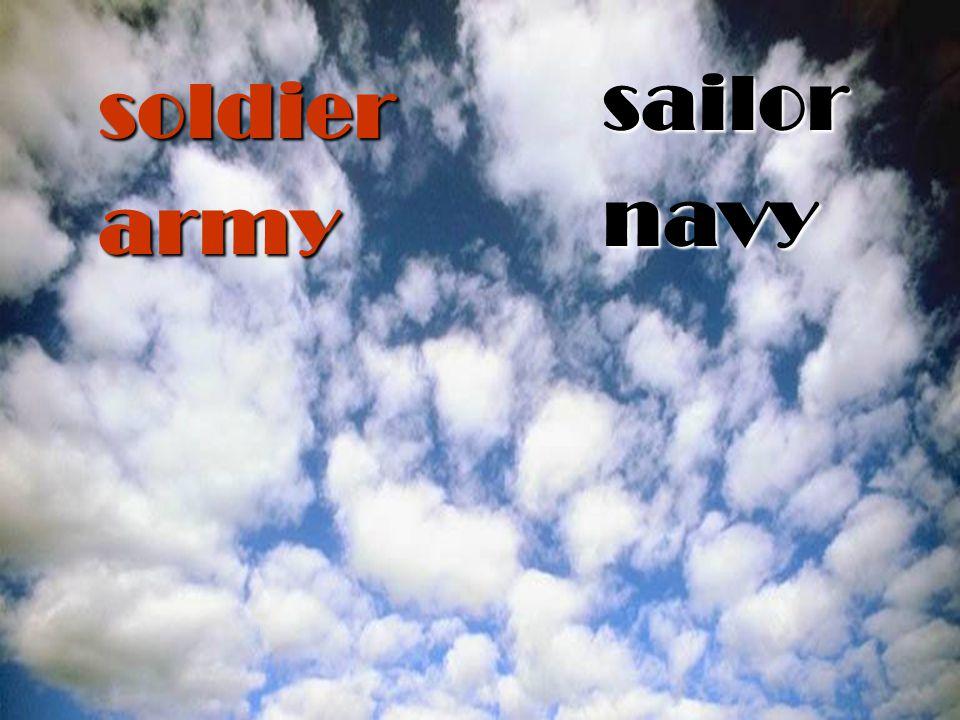 soldier army sailornavy