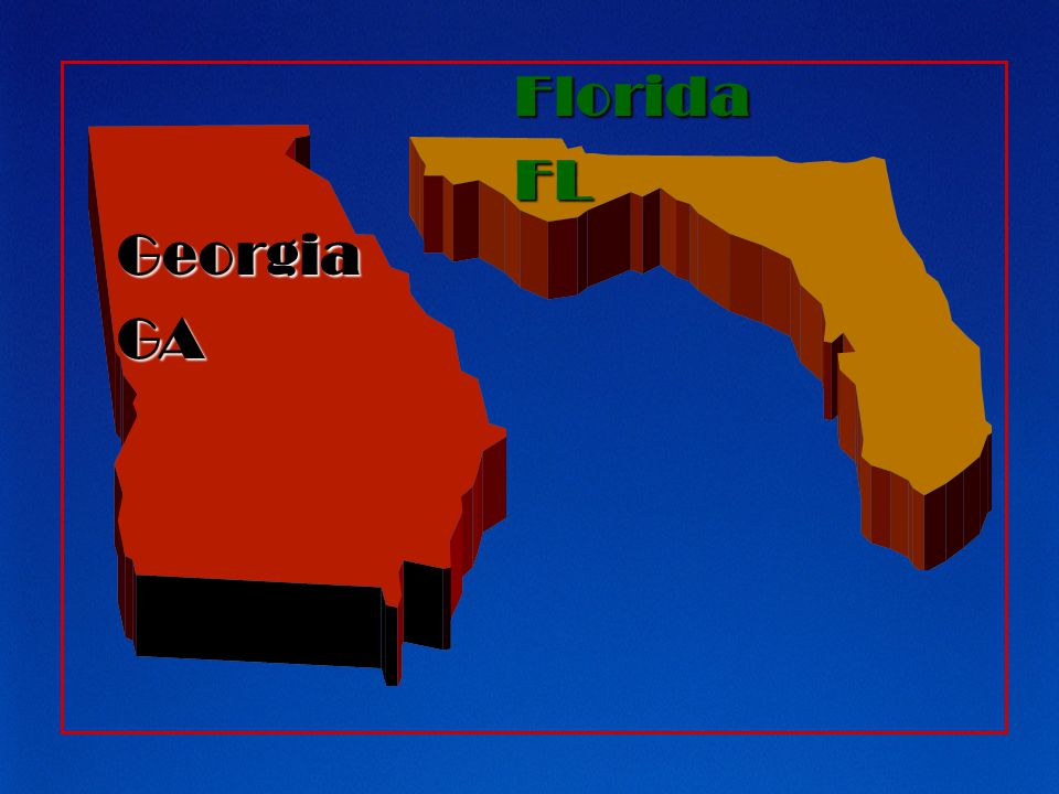 Georgia GA Florida FL