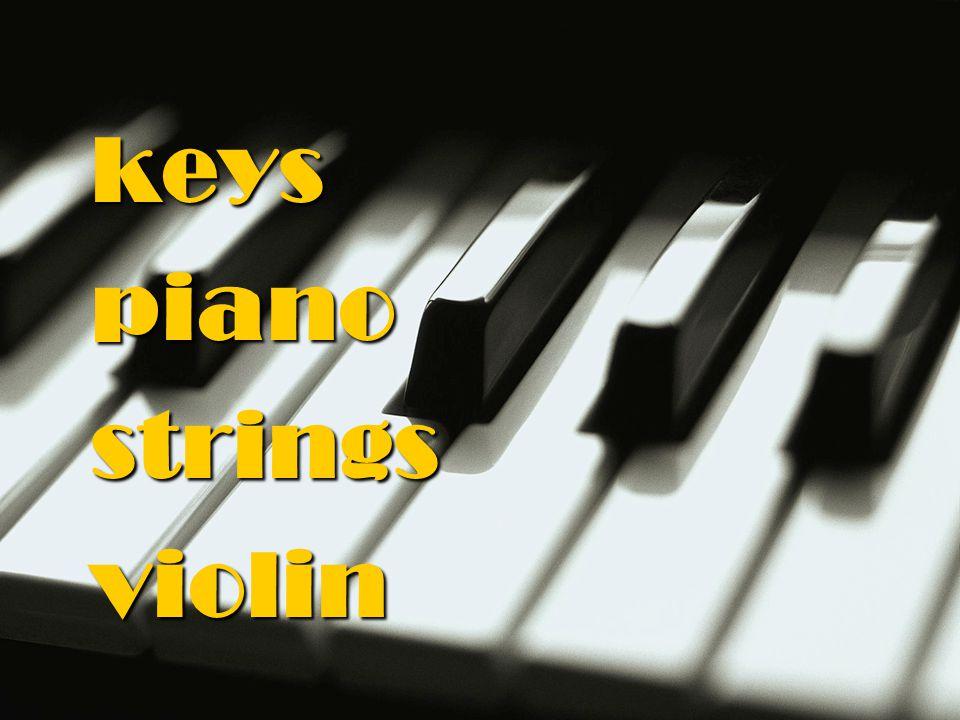 keys piano strings violin