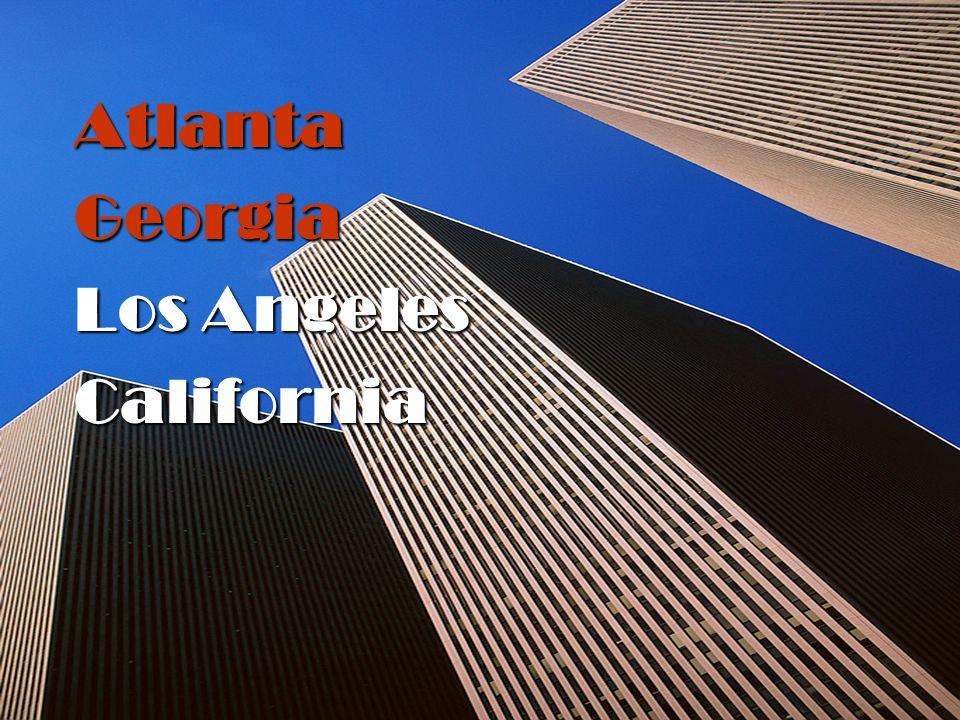 Atlanta Georgia Los Angeles California