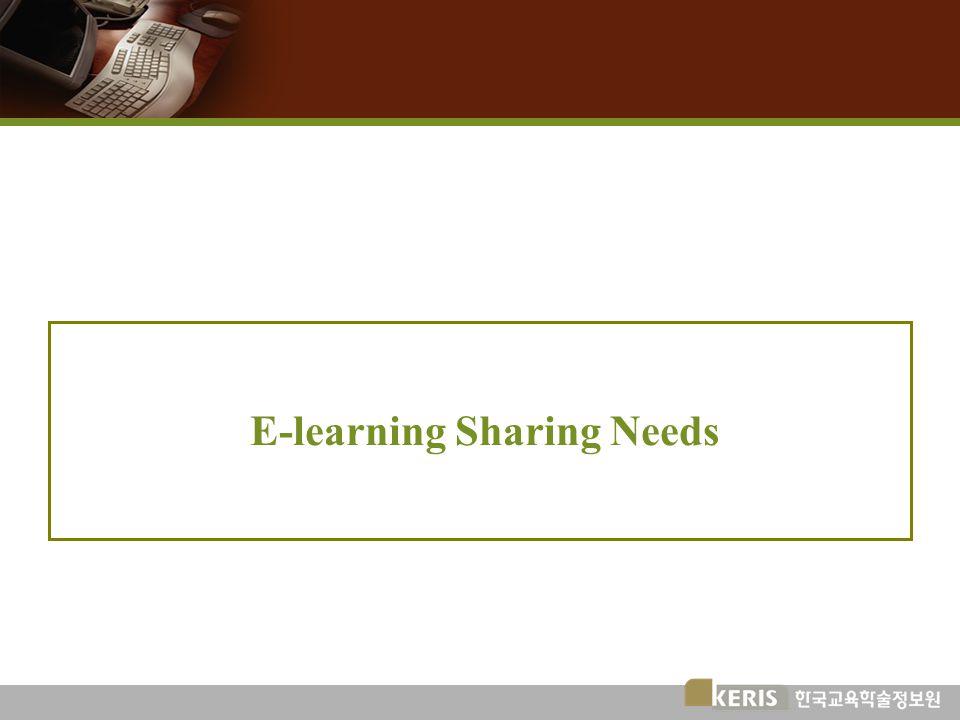 E-learning Sharing Needs