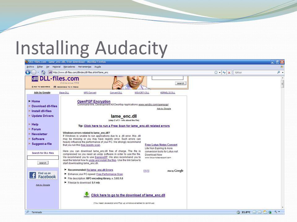 Installing Audacity