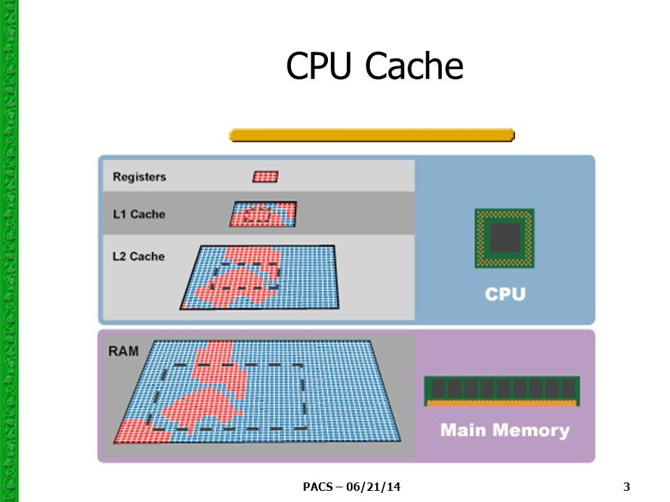 PACS – 06/21/14 3 CPU Cache