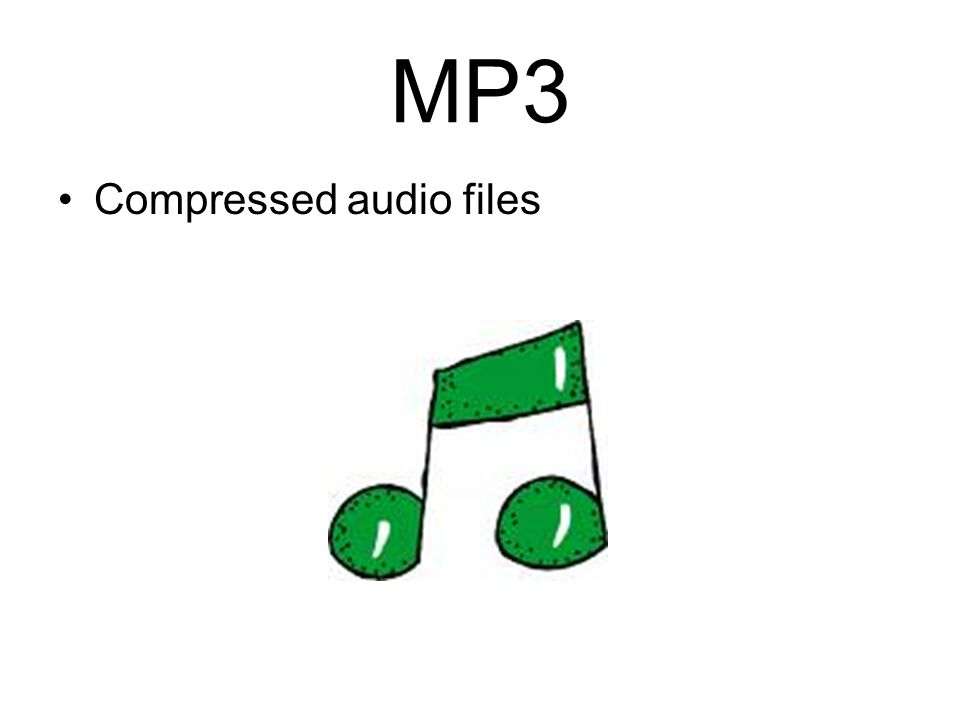 MP3 Compressed audio files
