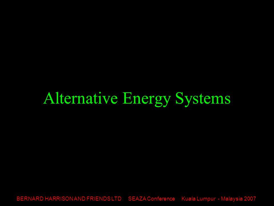 BERNARD HARRISON AND FRIENDS LTD SEAZA Conference Kuala Lumpur - Malaysia 2007 Alternative Energy Systems