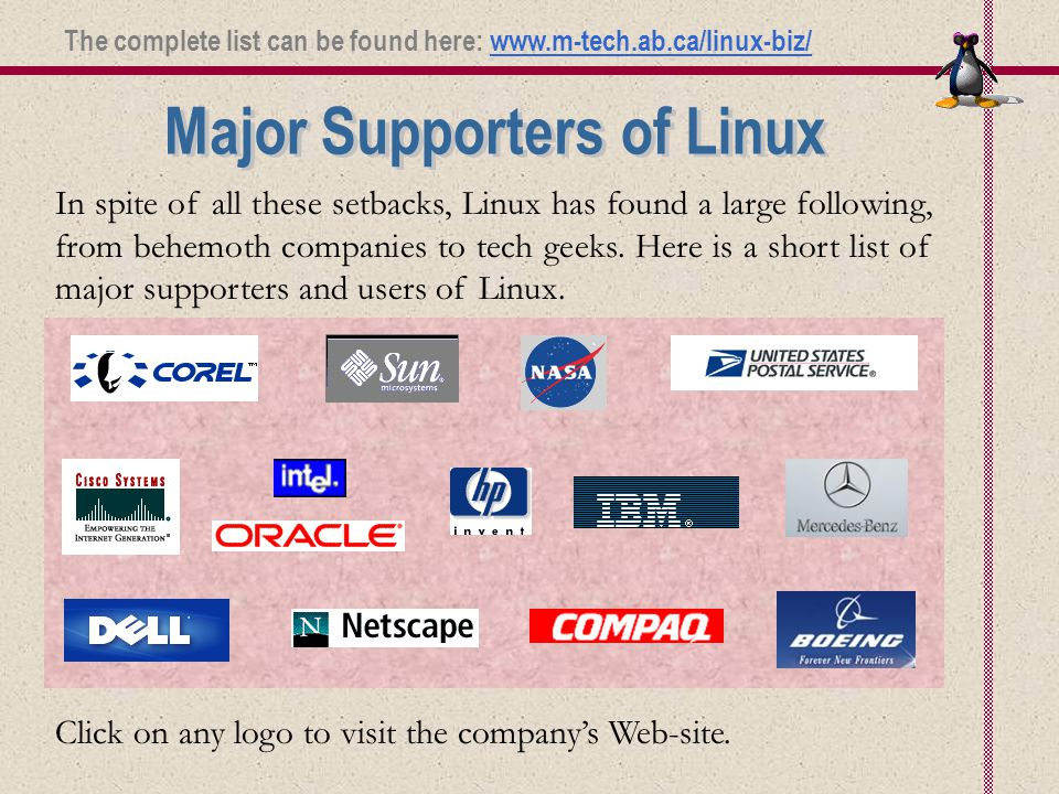 In spite of all these setbacks, Linux has found a large following, from behemoth companies to tech geeks.