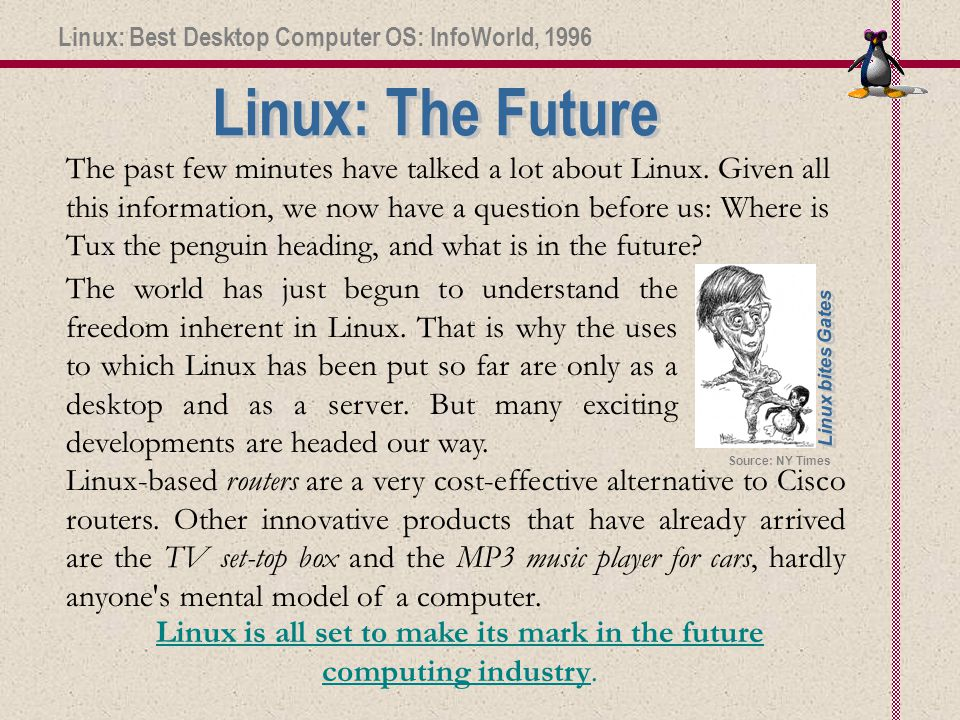 The past few minutes have talked a lot about Linux.