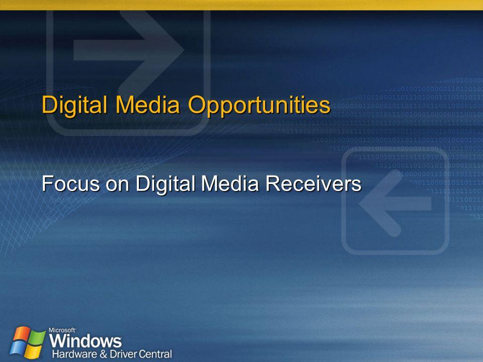 Digital Media Opportunities Focus on Digital Media Receivers