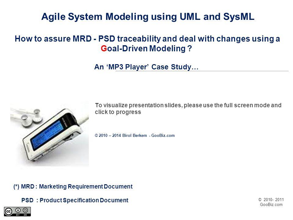 © 2010- 2011 GooBiz.com Main Steps of the System Development Life Cycle (Exemple : using Harmony from IBM / Telelogic)
