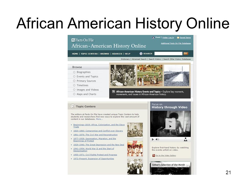African American History Online 21