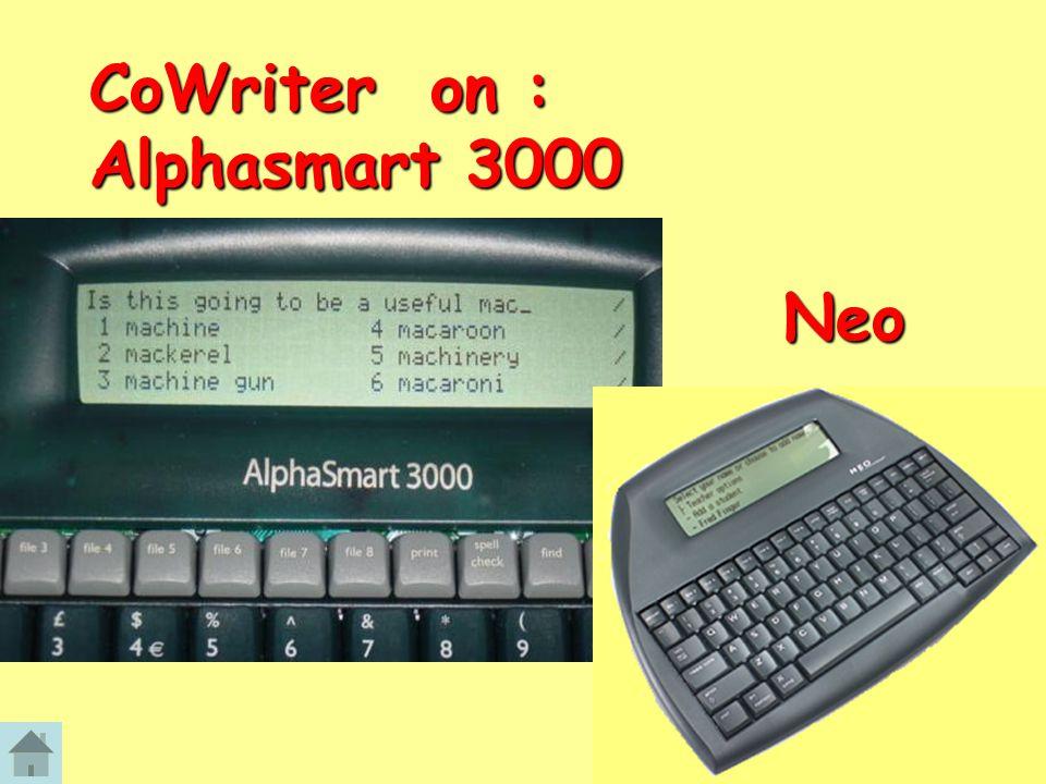 CoWriter on : Alphasmart 3000 Neo