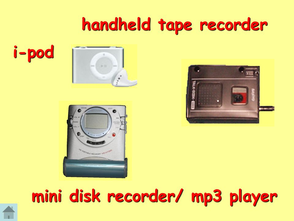 mini disk recorder/ mp3 player handheld tape recorder i-pod