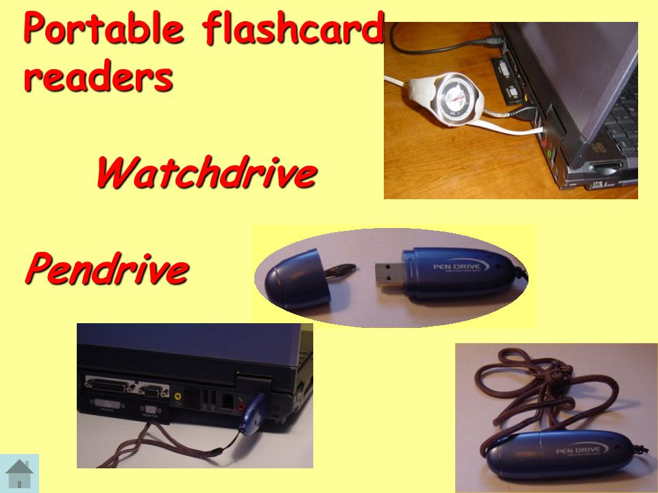 Portable flashcard readers Watchdrive Pendrive
