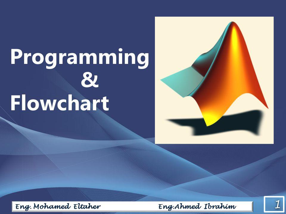 1 1 Eng. Mohamed Eltaher Eng.Ahmed Ibrahim Programming & Flowchart