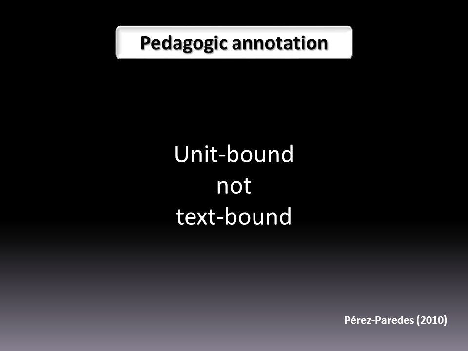 Unit-bound not text-bound Pérez-Paredes (2010)