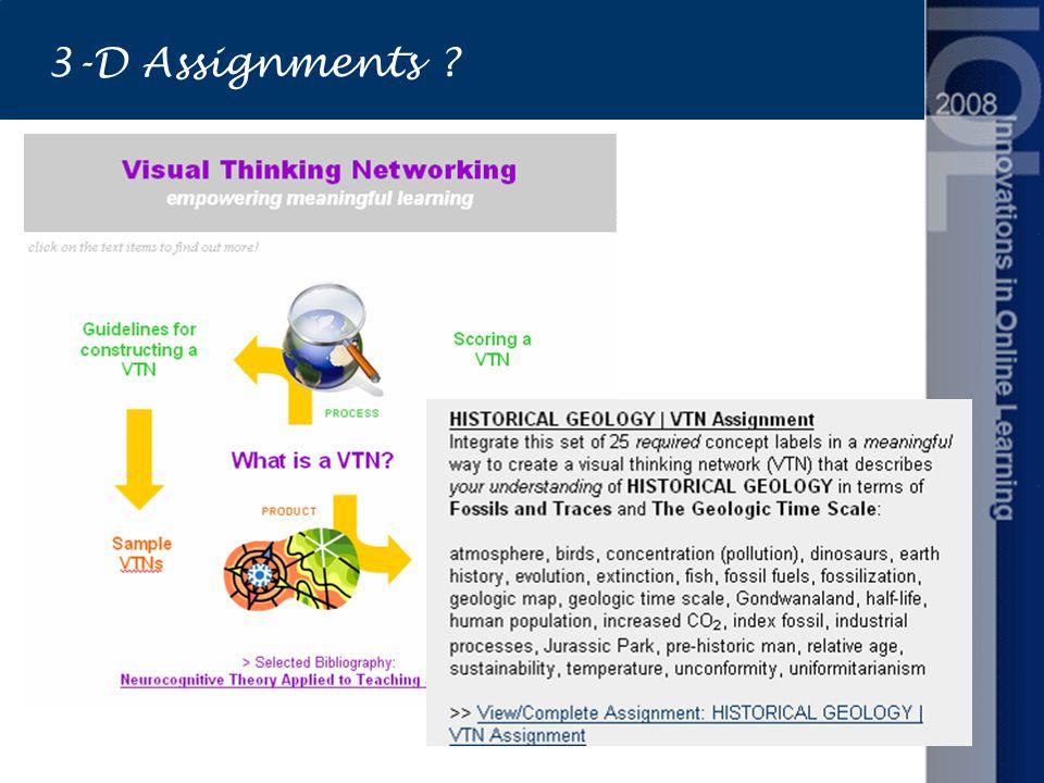 3-D Assignments