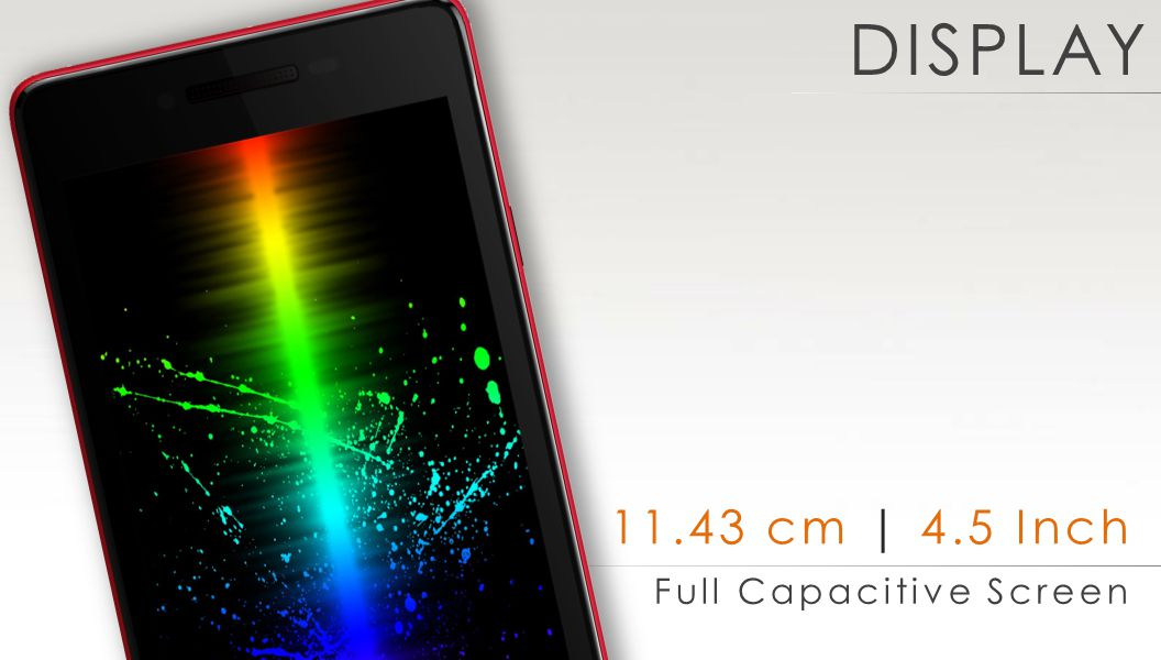 11.43 cm | 4.5 Inch Full Capacitive Screen DISPLAY