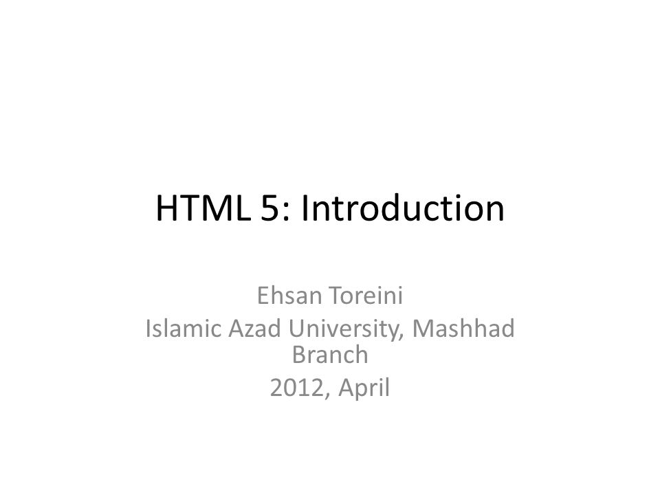 You may well ask: How can I start using HTML5? .