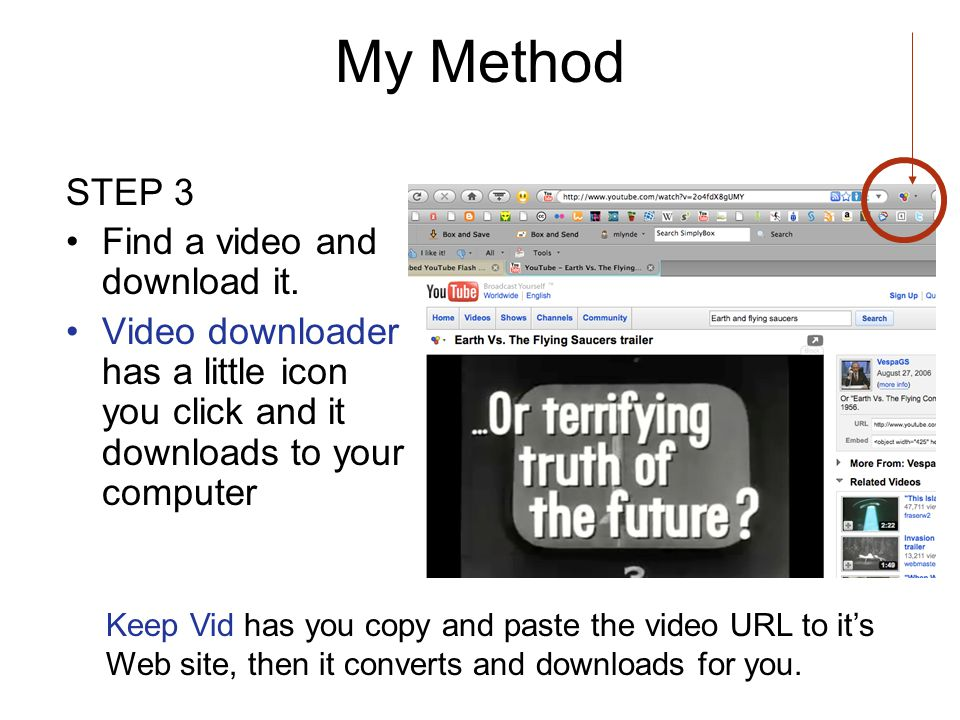 My Method STEP 3 Find a video and download it.