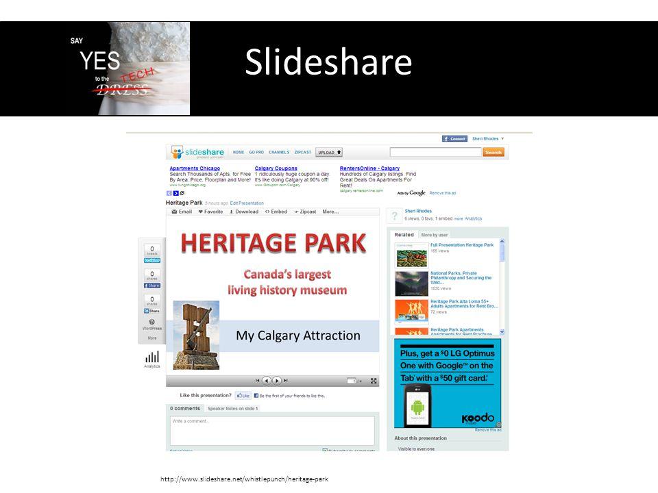 Slideshare http://www.slideshare.net/whistlepunch/heritage-park