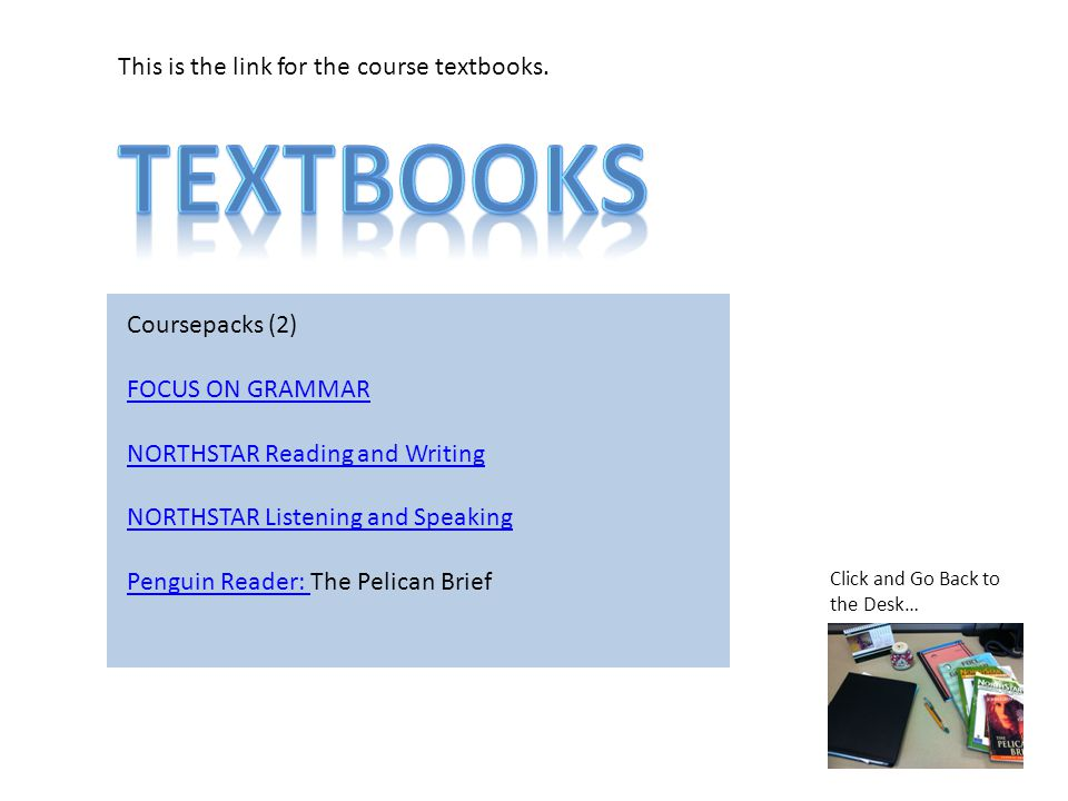 This is the link for the course textbooks.