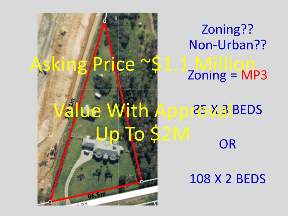 Zoning = MP3 85 X 3 BEDS OR 108 X 2 BEDS Zoning . Non-Urban .