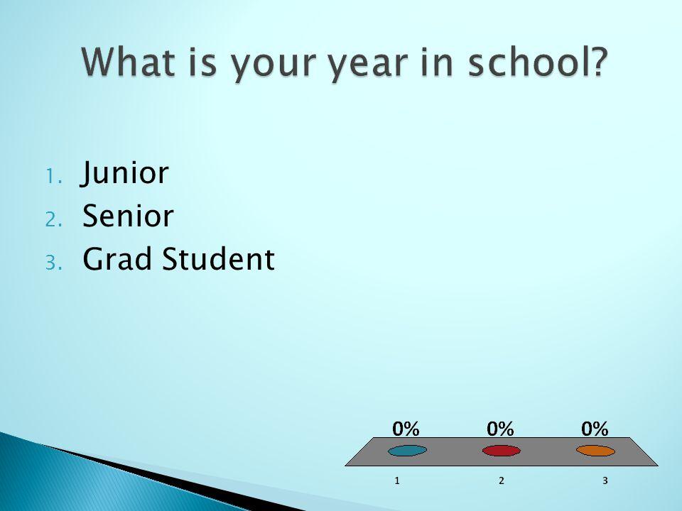 1. Junior 2. Senior 3. Grad Student
