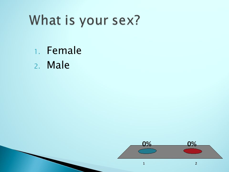 1. Female 2. Male