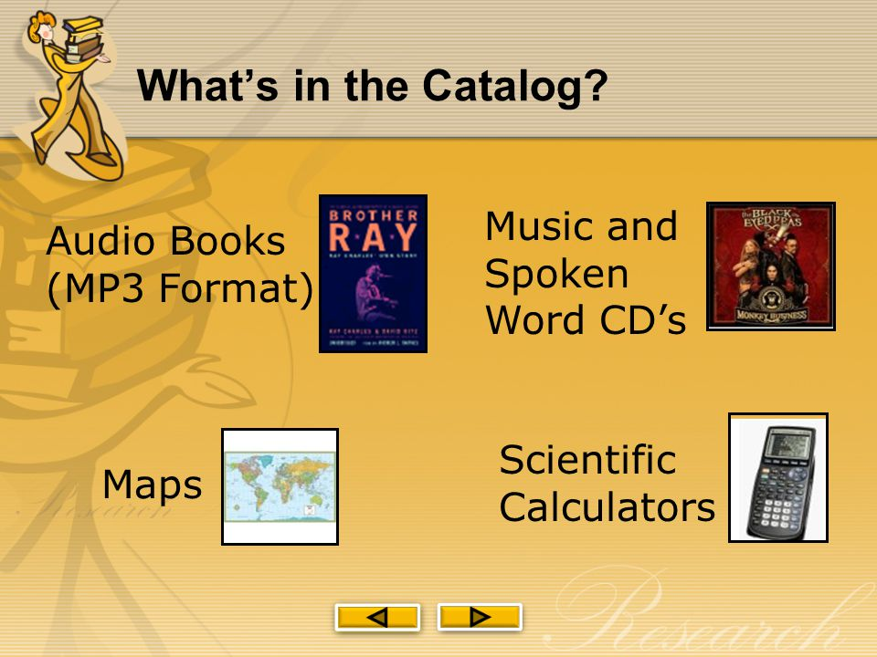 What's in the Catalog.