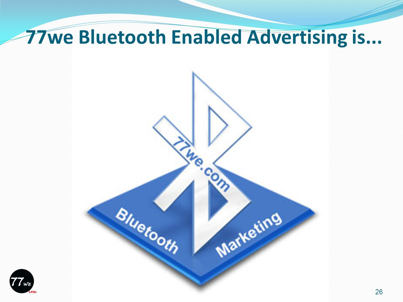 26 77we Bluetooth Enabled Advertising is...