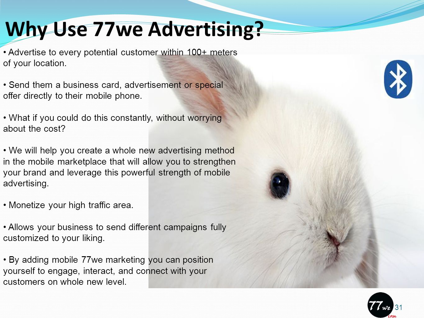 Why Use 77we Advertising.