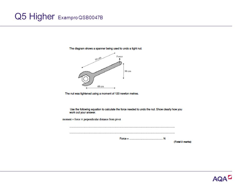 Q5 Higher Exampro QSB0047B Version 2.0 Copyright © AQA and its licensors. All rights reserved.