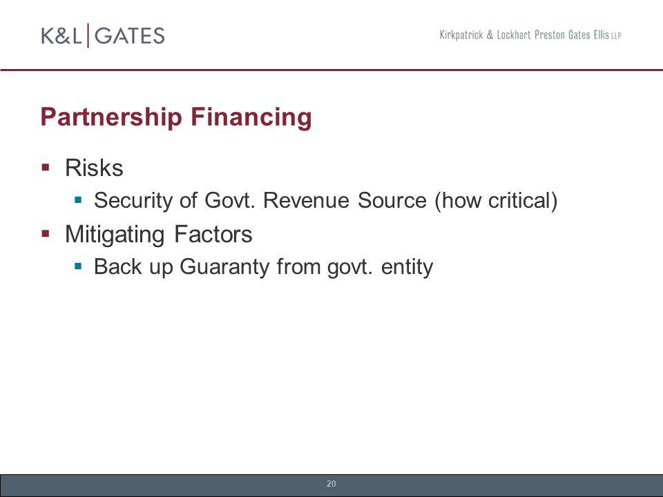 20 Partnership Financing  Risks  Security of Govt.