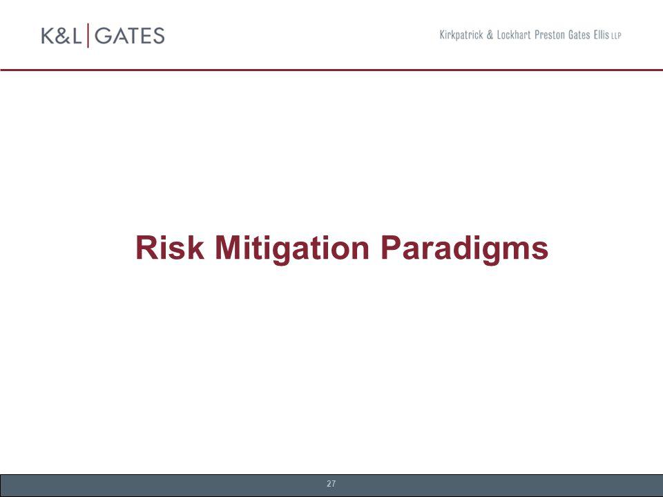 27 Risk Mitigation Paradigms