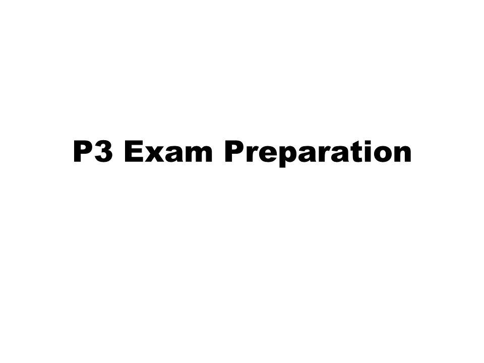 P3 Exam Preparation