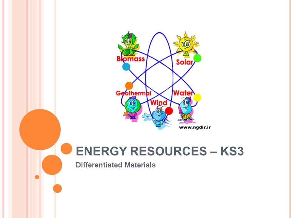 ENERGY RESOURCES – KS3 Differentiated Materials