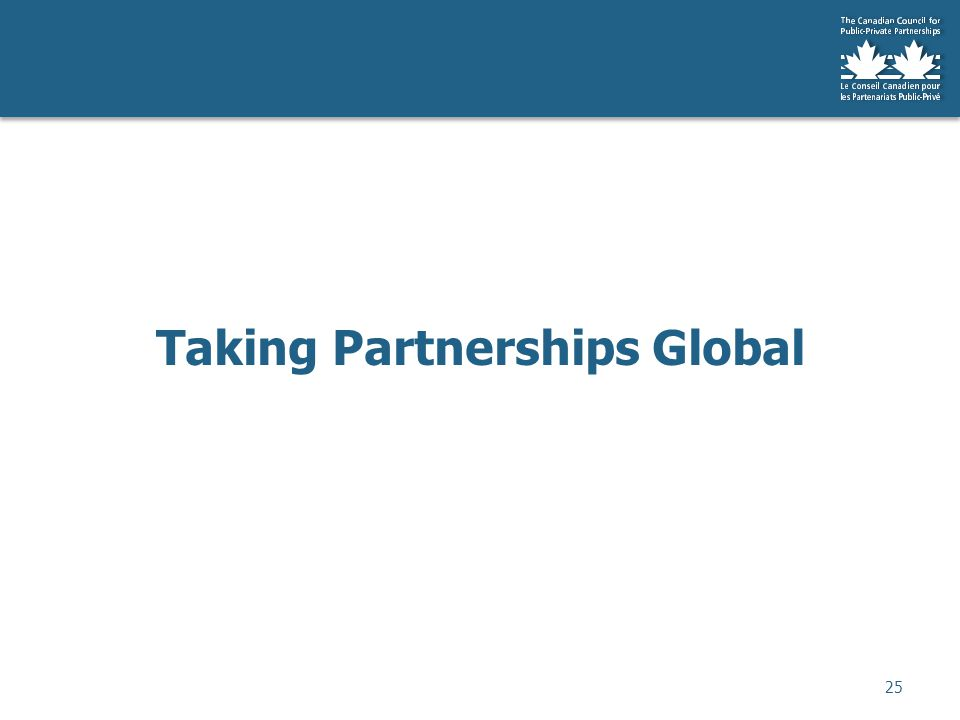 Taking Partnerships Global 25