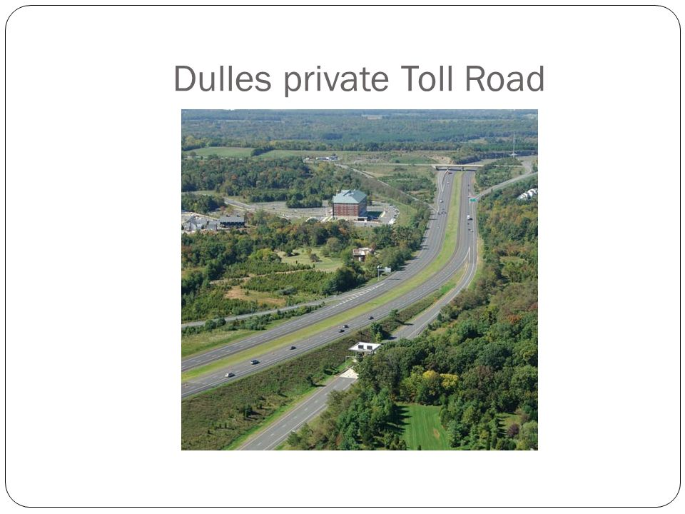 Dulles private Toll Road 19