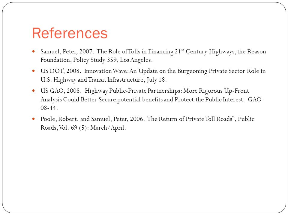 References 52 Samuel, Peter, 2007.