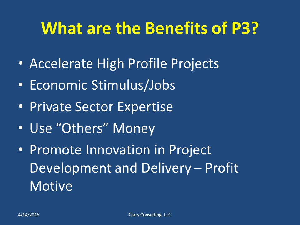 What are the Benefits of P3.