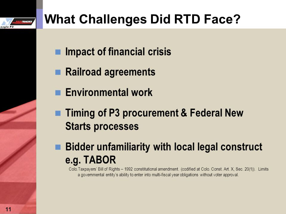 11 What Challenges Did RTD Face.