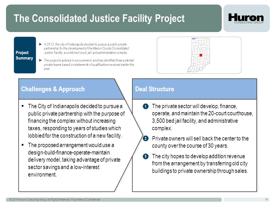 The Consolidated Justice Facility Project 16 © 2014 Huron Consulting Group.