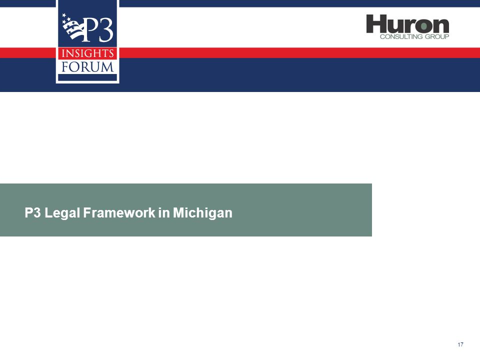 17 P3 Legal Framework in Michigan