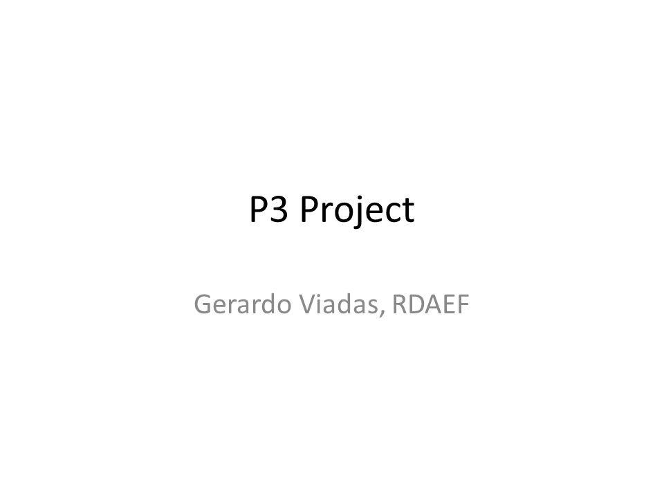 P3 Project Gerardo Viadas, RDAEF